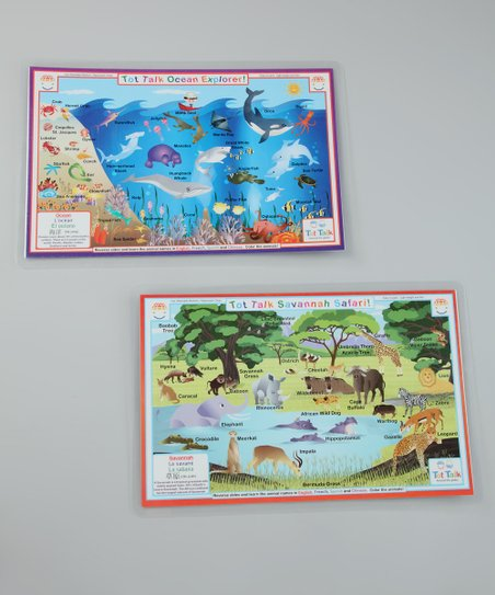 Ocean Explorer & Savanna Safari Place Mat Set