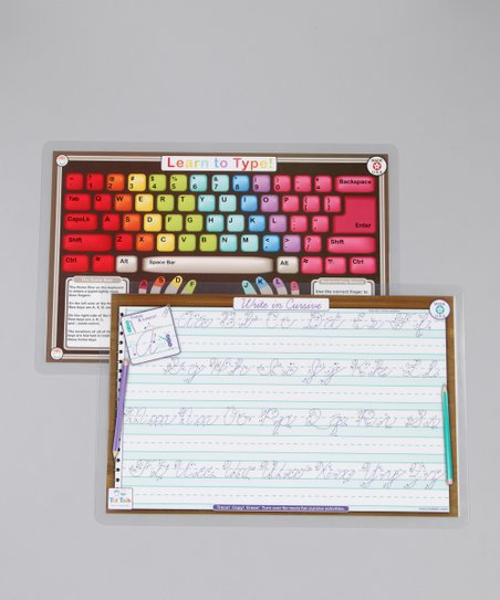 Cursive &amp; Learn to Type Activity Place Mats