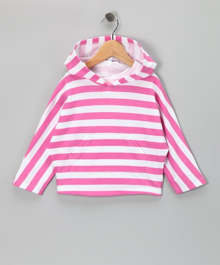 Pink &amp; White Stripe Hoodie - Toddler &amp; Girls