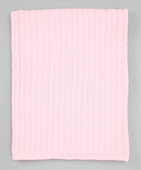 Pink Chenille Receiving Blanket