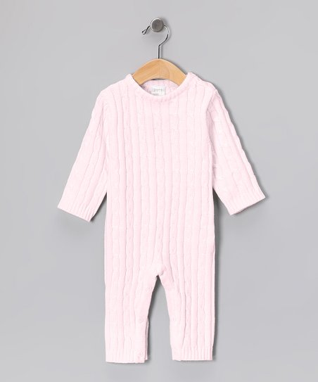 Pink Cable-Knit Playsuit - Infant
