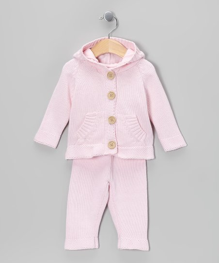 Pink Knit Cardigan & Pants - Infant
