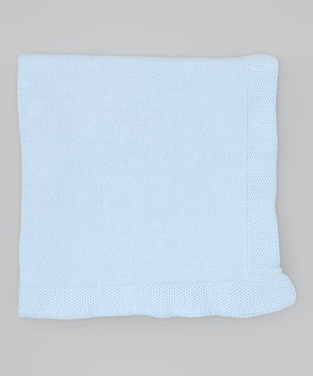Blue Knit Receiving Blanket