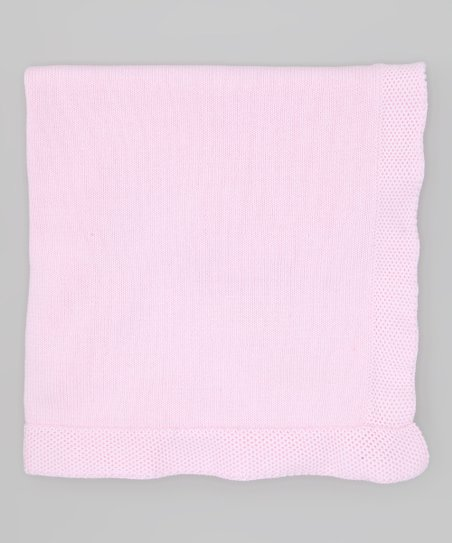 Pink Knit Receiving Blanket