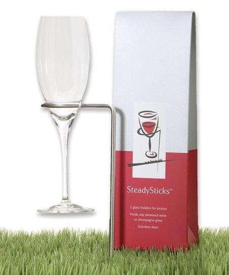 SteadySticks Wineglass Holder - Set of Two