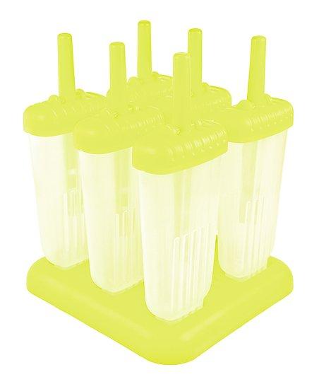Yellow Groovy Ice Pop Mold - Set of Six