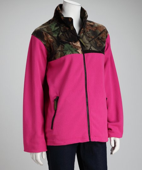 Trail Crest Rose Camo Fleece Jacket - Women