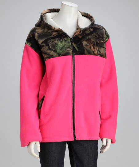 Rose Camo Fleece Jacket - Women