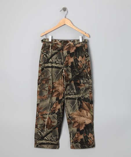 Green Camouflage Cargo Pants - Boys