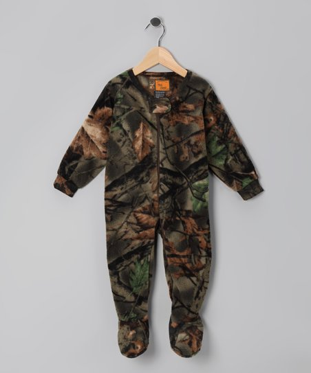 Green Camouflage Fleece Footie - Infant, Toddler & Kids