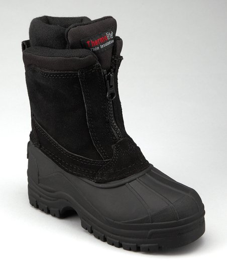 Black Seamed Duck Boot