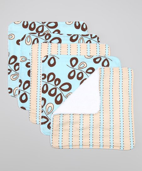 Willow Teal Washcloth Set