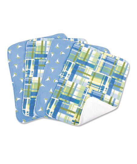 Nantucket Blue Burp Cloth Set