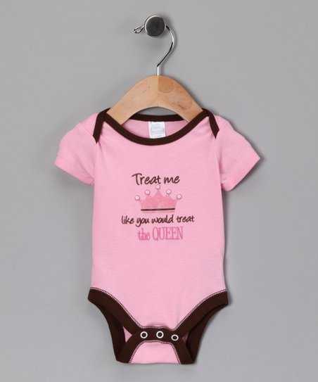 Pink 'Treat Me Like a Queen' Bodysuit - Infant