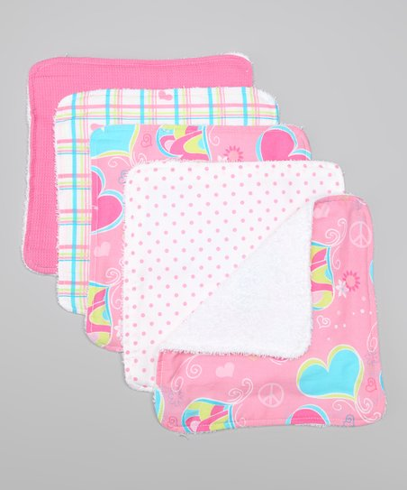 Groovy Love Washcloth Set