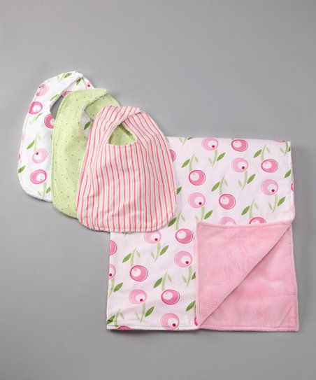 Tulip Bib &amp; Blanket Set