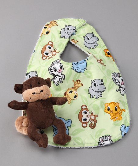 Zoo Bib & Chimpanzee Plush Toy