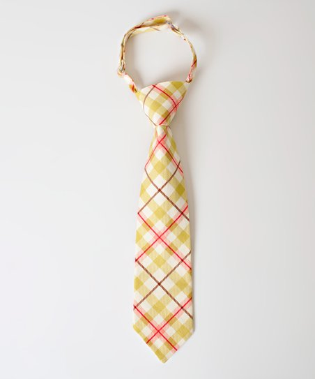 Gold &amp; Red Plaid Conner Tie