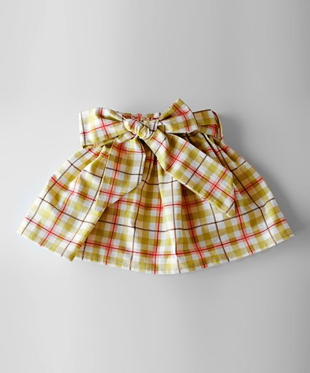 Red & Green Conner Sash Skirt - Toddler & Girls