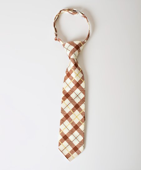 Brown & Green Plaid Cooper Tie