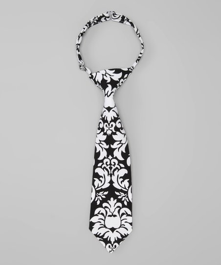 Black Dandy Damask Tie