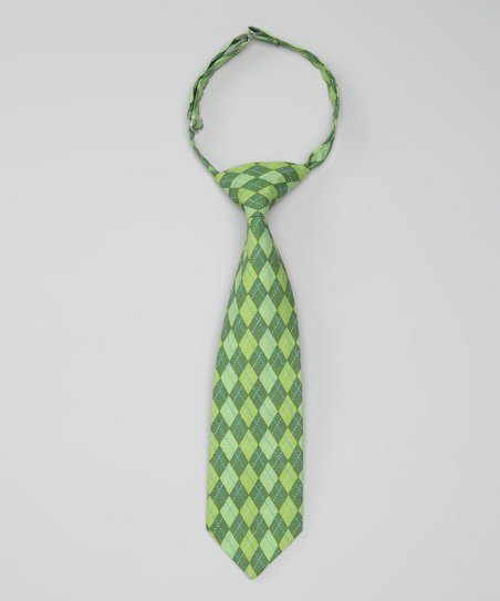 Green Argyle Harrison Tie