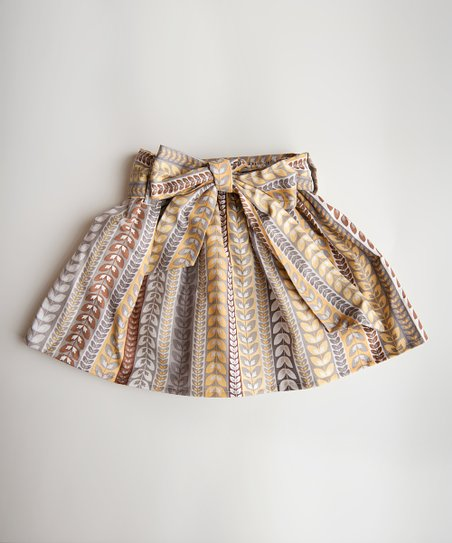 Yellow &amp; Brown Stripe Skirt - Infant, Toddler &amp; Girls
