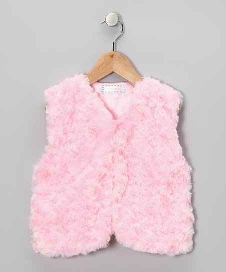 Pink Faux Fur Vest - Toddler &amp; Girls