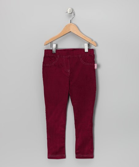 Dark Purple Corduroy Skinny Pants - Toddler & Girls