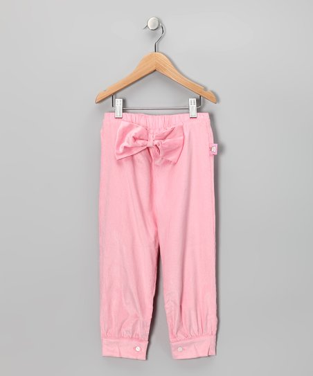 Pastel Pink Bow Corduroy Pants - Toddler &amp; Girls