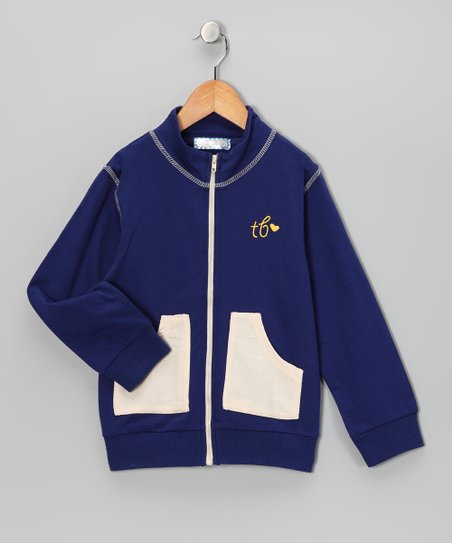 Navy & Beige Jacket - Toddler & Kids