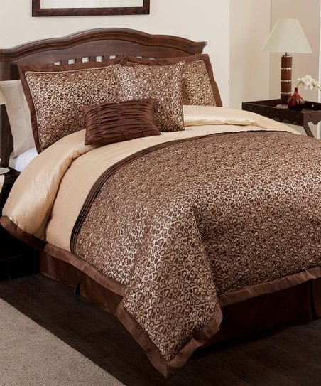 Brown Leopard Comforter Set