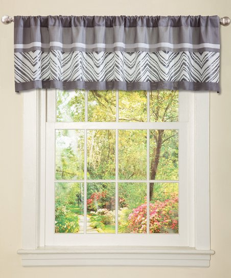 Gray & White Evening Grace Valance