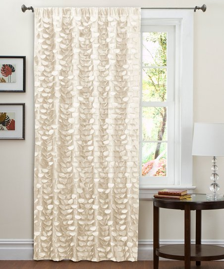Beige Lillian Curtain Panel