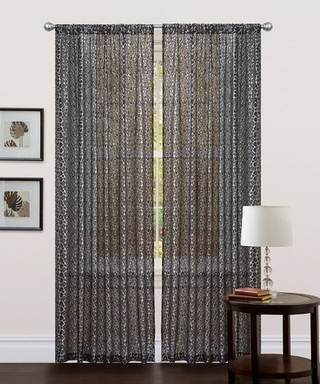 Black Leopard Curtain Panel