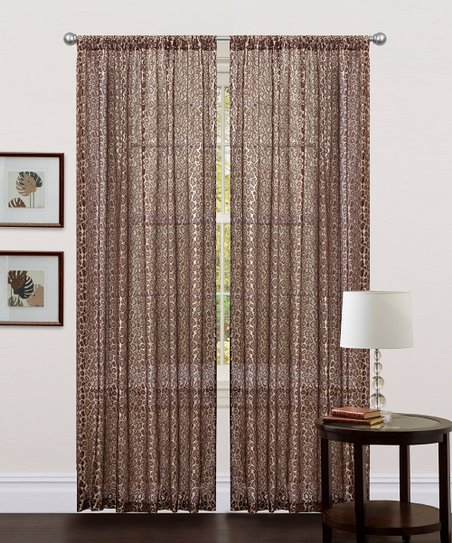 Brown Leopard Curtain Panel