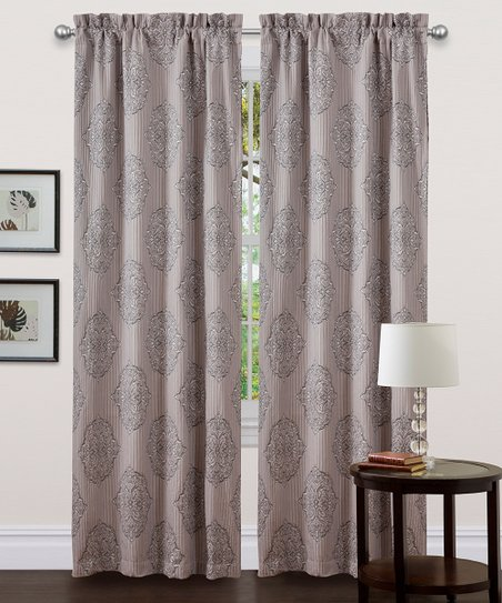 Gray Empire Curtain Panel