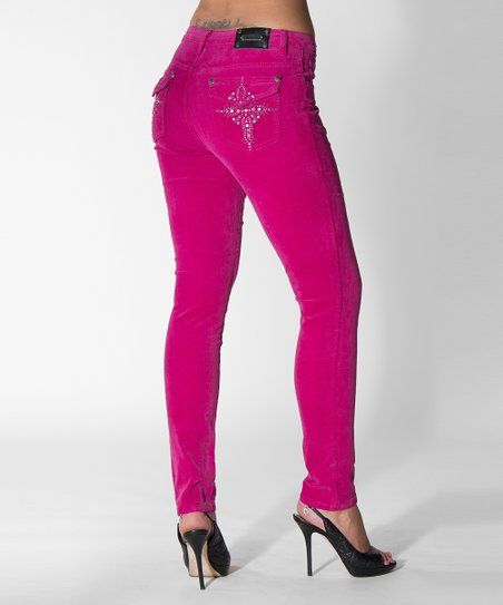 Tru Luxe Magenta Victoria Skinny Jeans
