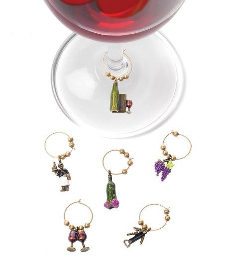 Wine Connoisseur Charm Set