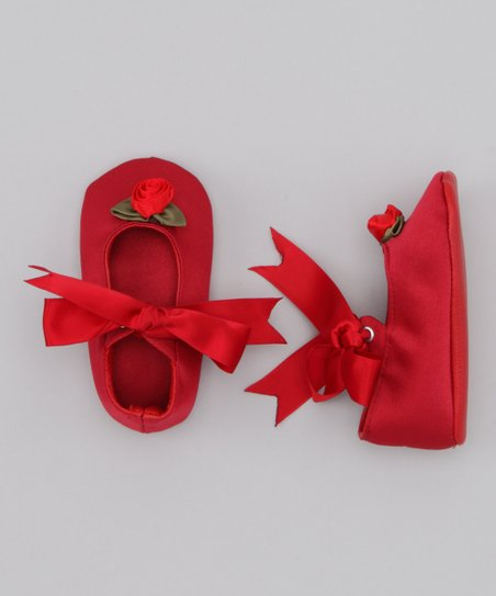 Red Noel Satin Shoe