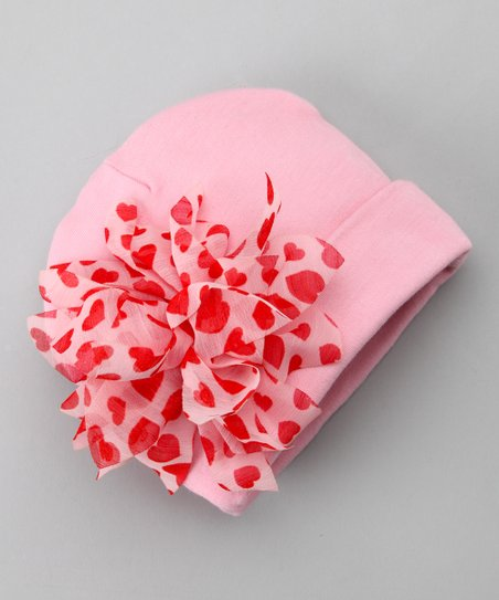 Red &amp; Pink Heart Spree Beanie