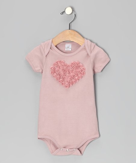 Mauve Rose Heart Bodysuit