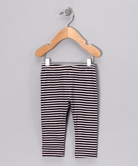 Pink & Black Stripe Pants - Infant