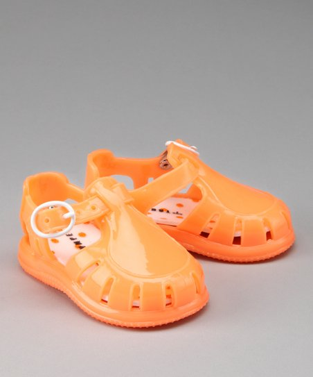 Orange Jelly Shoe