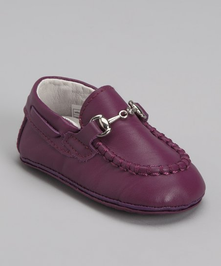 Purple Buckle Loafer