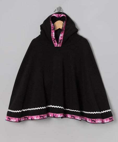 TuTu Fabulous Black Kitty Cat Poncho - Toddler & Girls