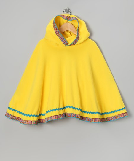 TuTu Fabulous Yellow Poncho - Toddler & Girls