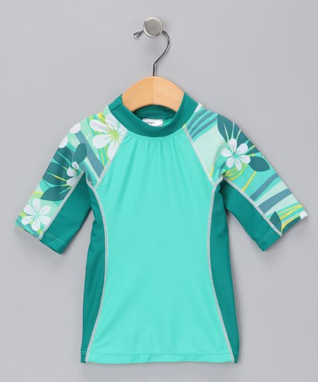 Green Seaside Rashguard - Infant & Girls