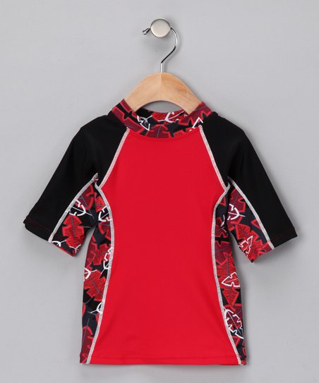 Red Onshore Rashguard - Infant, Toddler & Boys