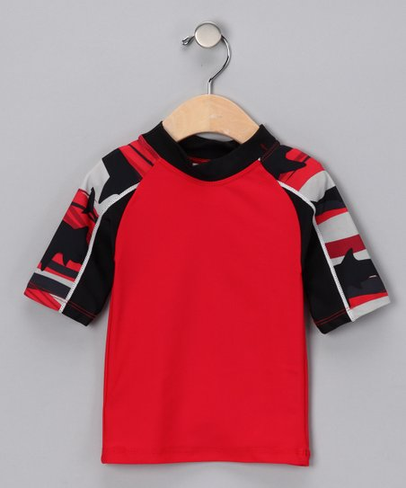 Red Shark Breaker Rashguard - Infant, Toddler &amp; Boys